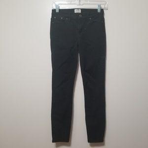 J. Crew Toothpick Black Skinny Jeans Stretch 26